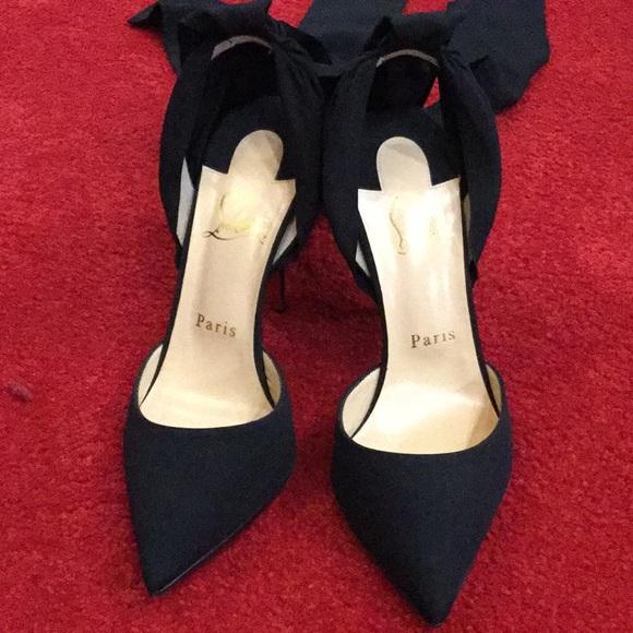 526f6dc81a58 Christian Louboutin Shoes - Douce de Desert Satin Crepe Pumps 100